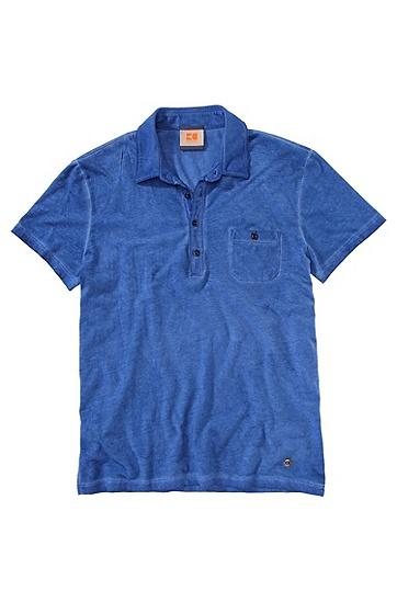 Polo ´Perpignan` aus Baumwolljersey, Blau