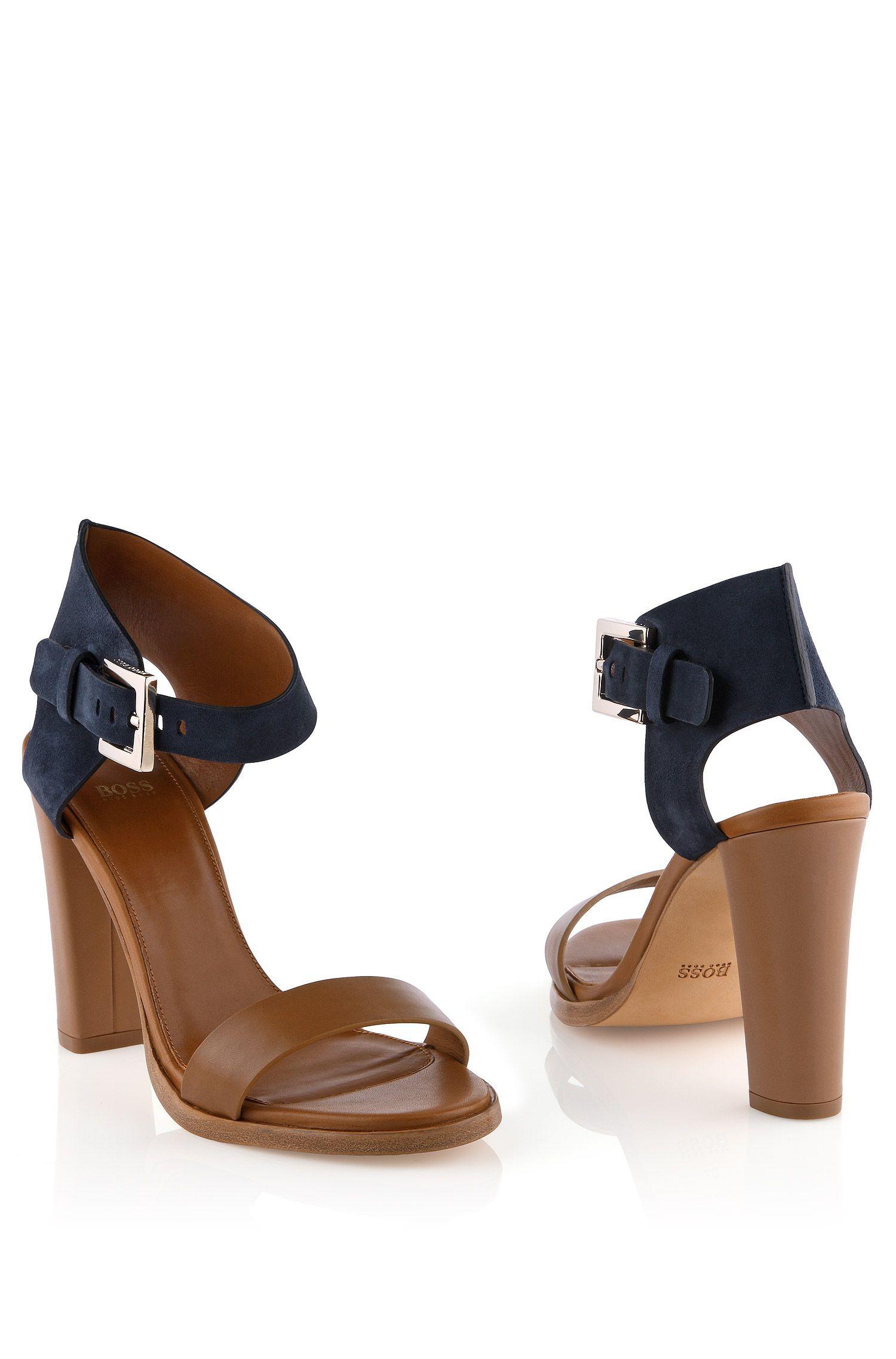 Sandales en cuir de vachette mélangé, Skelli