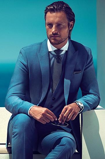 Business-kostuum ´Hold1/Genius1 WE`, Blauw