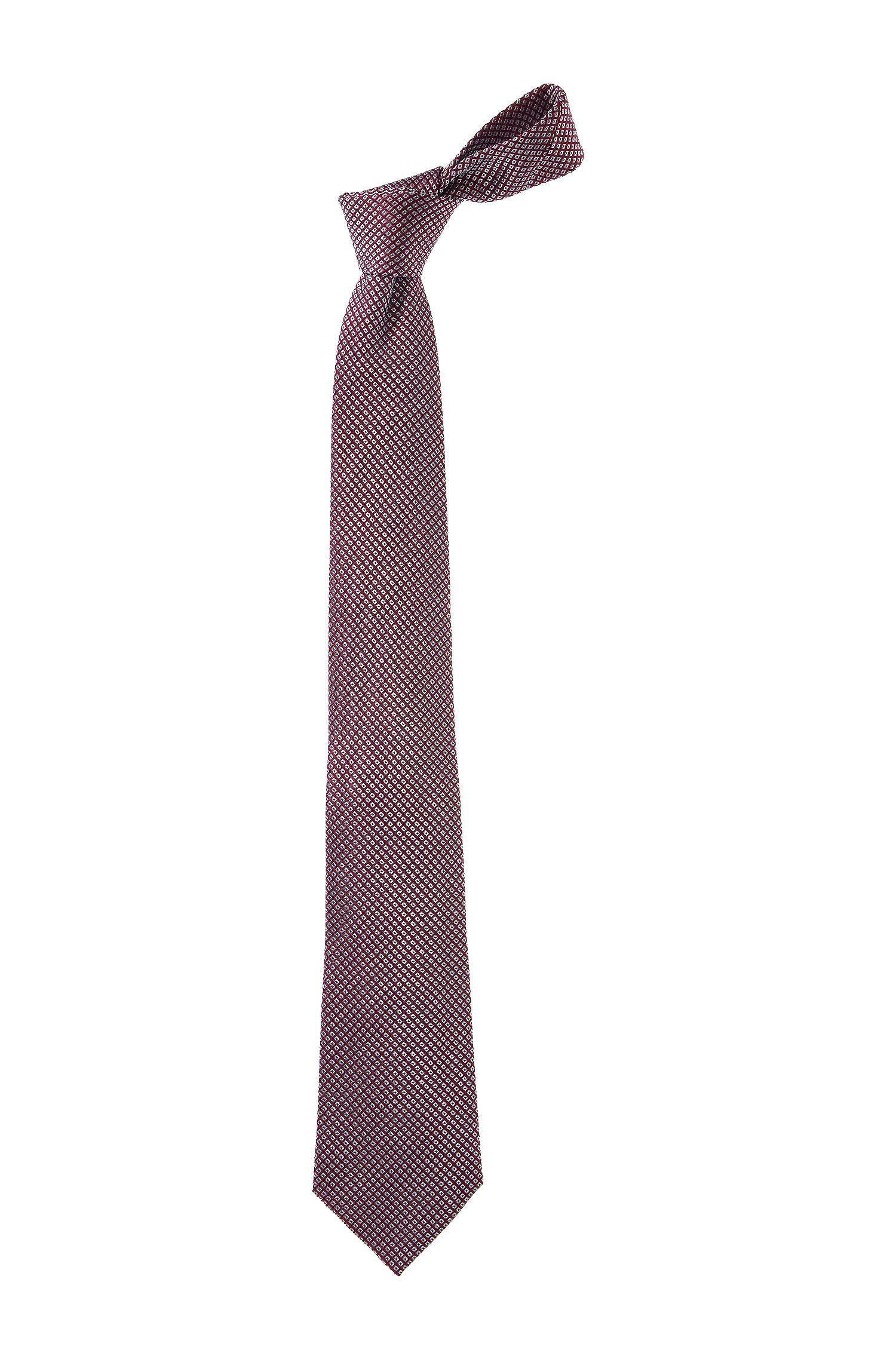 Krawatte ´TIE CM 8` mit eingewebtem Rauten-Dessi