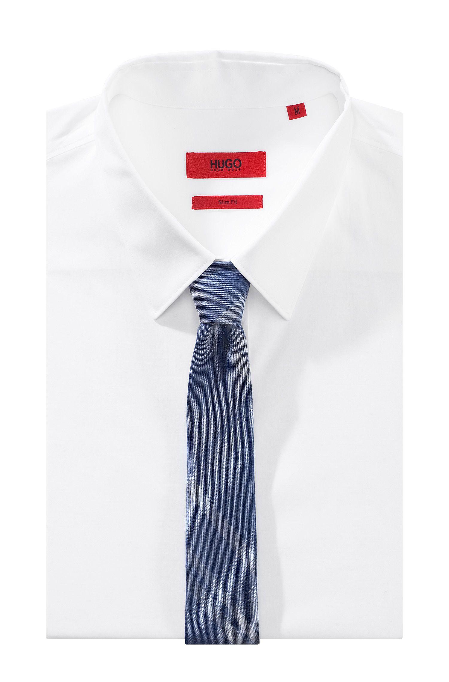 Cravate en soie et coton mélangés, Tie 6 cm