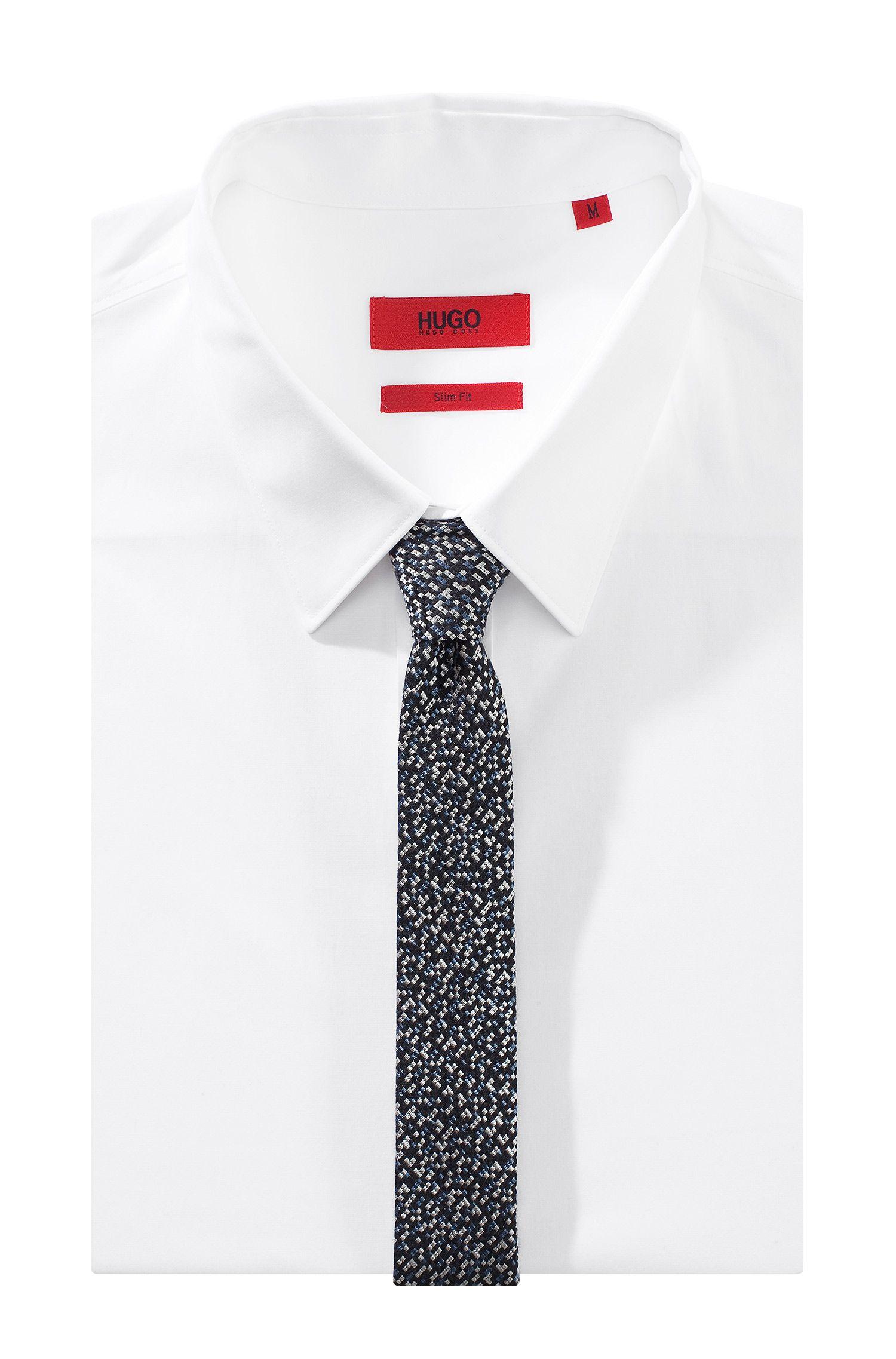 Cravate en coton et soie mélangés, Tie 4,5 cm
