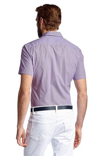 Slim Fit casual shirt 'Marco_1 Modern Essential', Open Purple