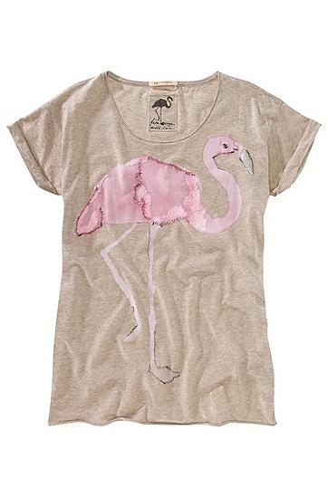 T-Shirt ´Talme` in weiter Passform, Hellbraun