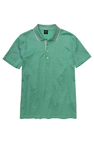 Regular Fit cotton polo shirt 'Bugnara 20', Green