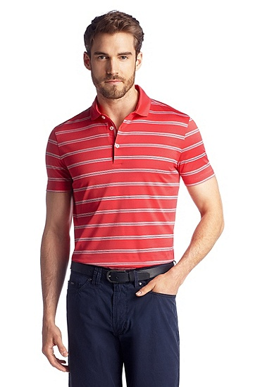 Polo ´San Remo` aus reiner Baumwolle, Dunkelorange