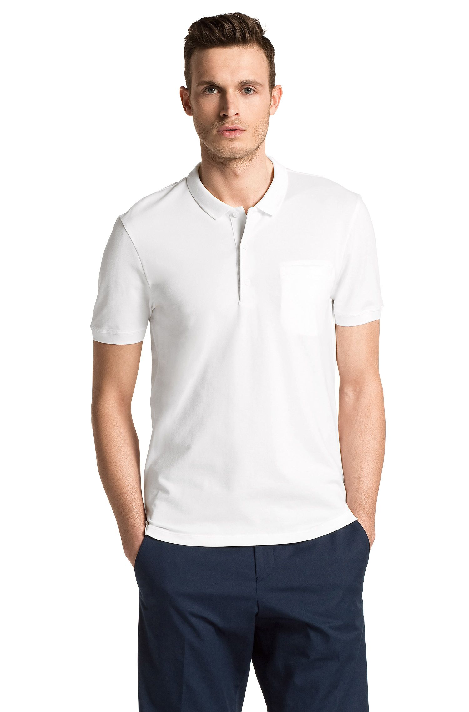 Regular-Fit Polo ´Dathis` aus Piqué