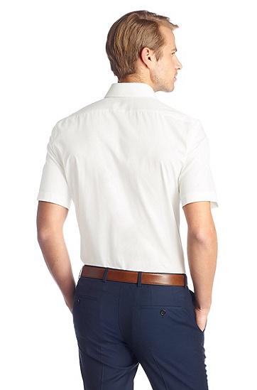 Regular-Fit Kurzarm-Hemd ´Cinzio`, bügelleicht, Natur