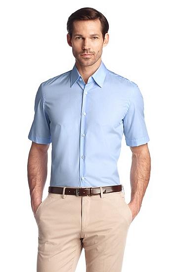 Regular-Fit Kurzarm-Hemd ´Cinzio`, bügelleicht, Hellblau