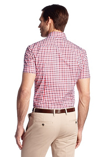 Slim-Fit Business-Hemd ´Juris` mit Kentkragen, Rot