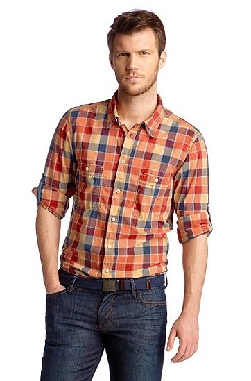 Freizeit-Hemd ´Califo` mit Kentkragen, Rot
