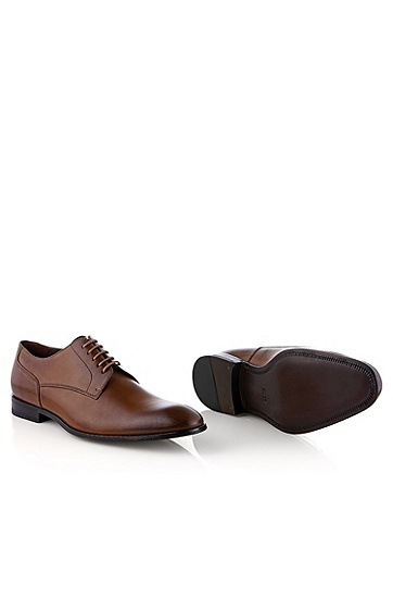 Calfskin lace-up 'Romes', Brown