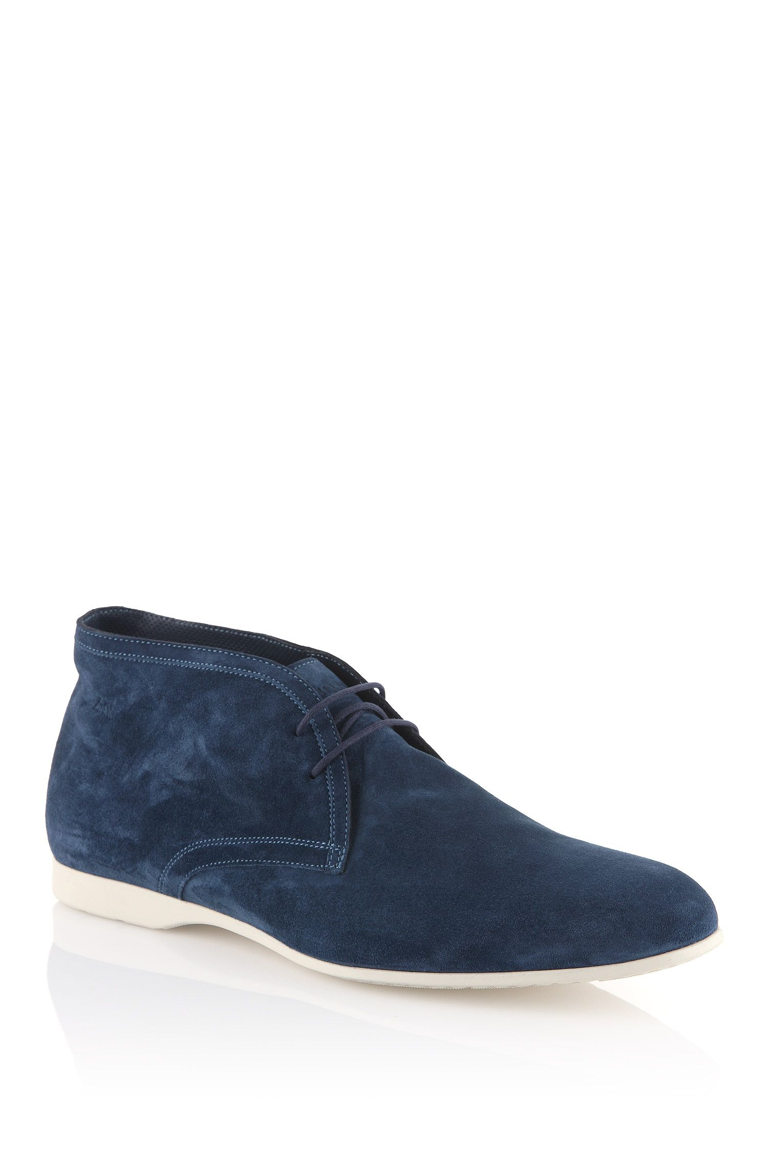 Chaussures à lacets en pur cuir velours, Sortion