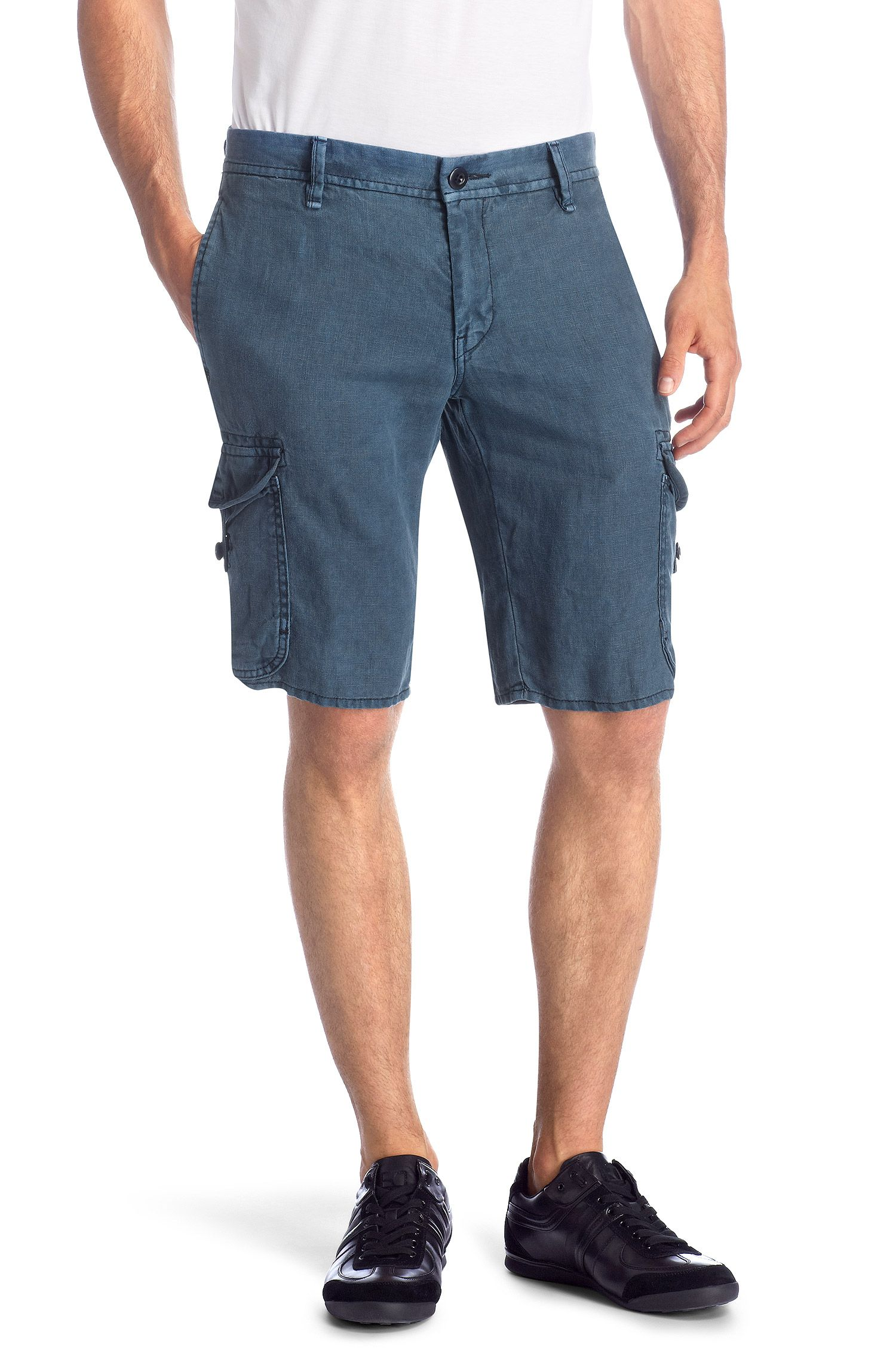 Regular-Fit Leinen-Shorts ´Schwinn1-Shorts-D`