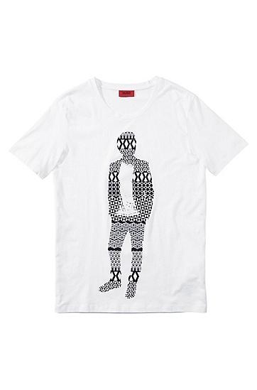 T-Shirt ´Detno` mit Rundhals-Ausschnitt, Weiß