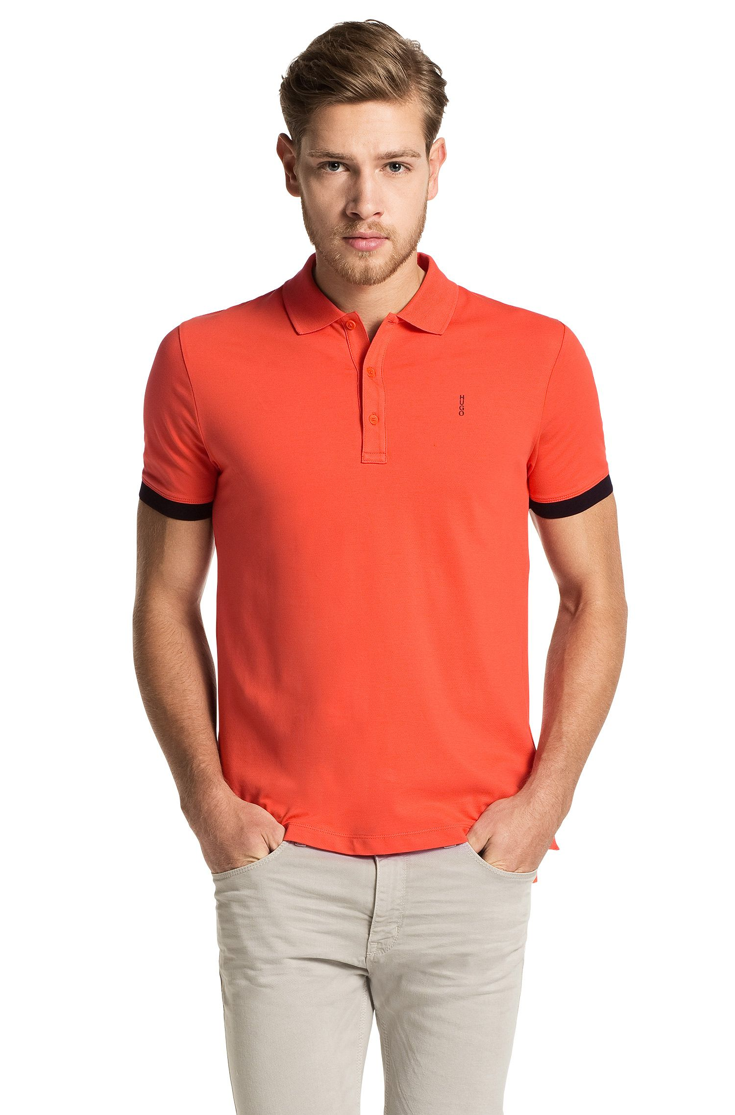 Regular-Fit Poloshirt aus Stretch-Baumwolle: 'Nono-C'