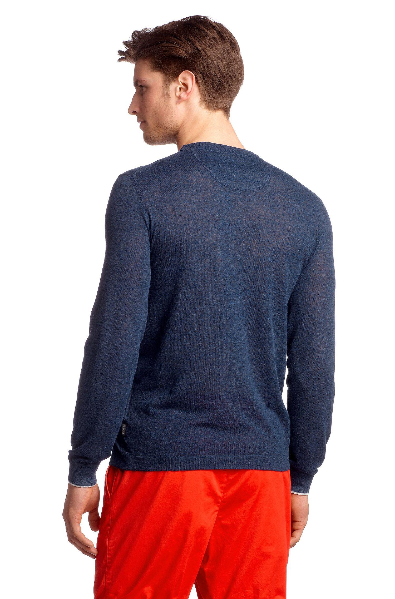 Regular-Fit Pullover ´Franz` mit Leinen