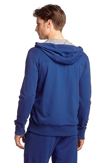 Sweatshirt-Jacke ´Saggy` aus reiner Baumwolle, Blau
