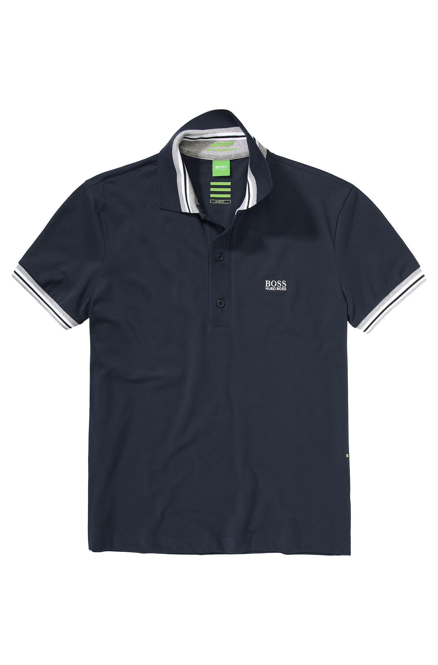 Poloshirt ´Paule` met rechte zoom