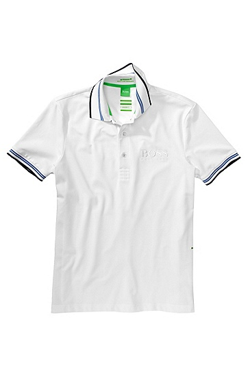 Poloshirt ´Paddy Pro 1` aus Baumwoll-Mix, Weiß