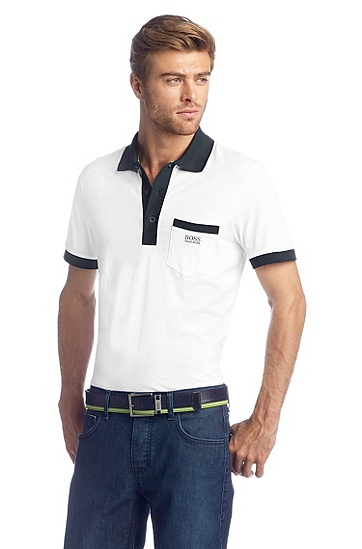 Regular-Fit Polo ´Paddys`, Weiß