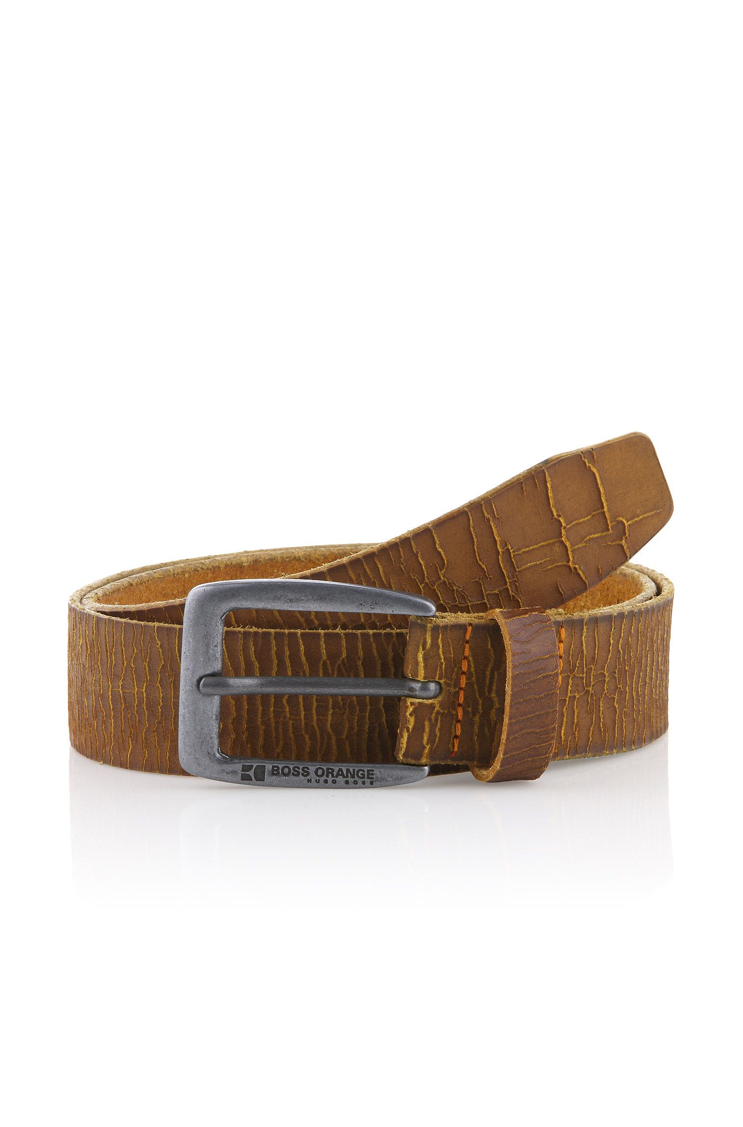 Riem ´Justos` van rundleer in used-look