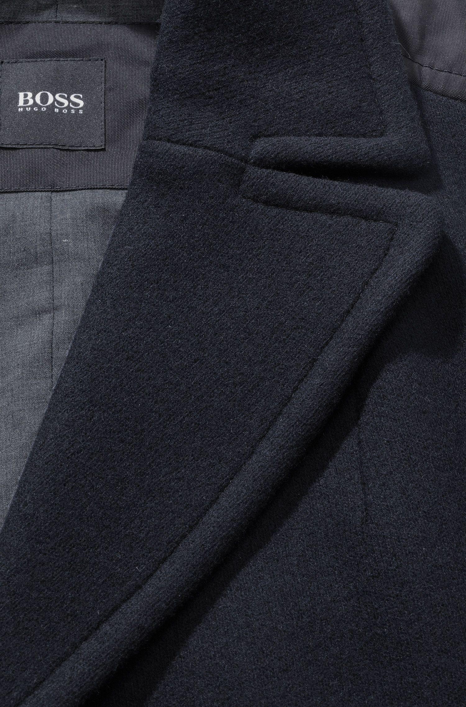Manteau court en laine vierge mélangée, Camius
