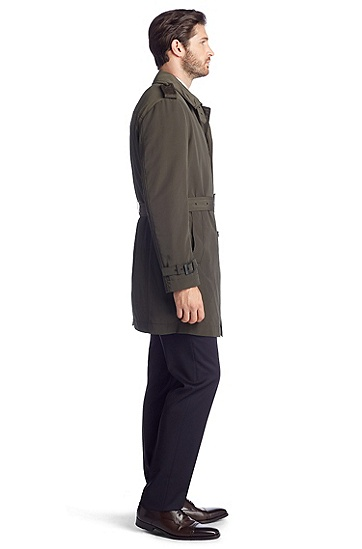 Wasserabweisender Trenchcoat ´The Trace`, Dunkelbraun