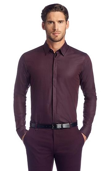 Slim fit vrijetijdsoverhemd ´Endrio` met kentkraag,