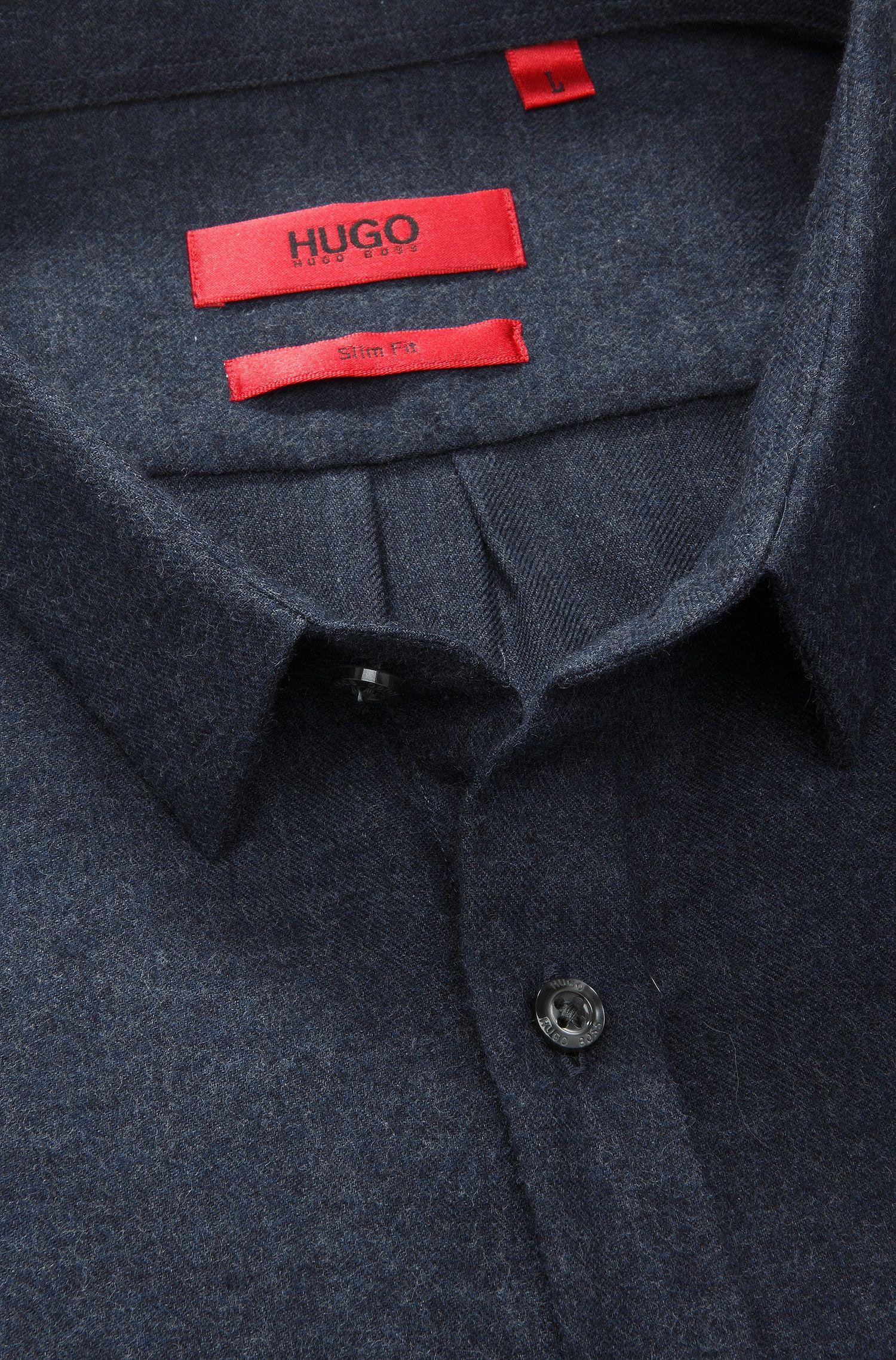 Slim-Fit Freizeit-Hemd ´Ero` mit kurzer Rückenlä