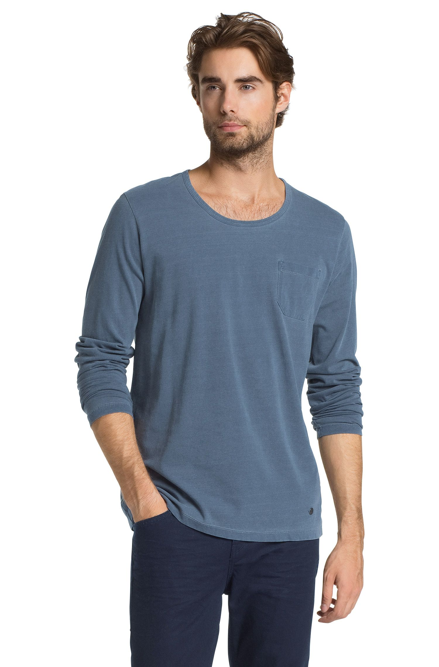 T-shirt manches longues à encolure ronde, Tawney