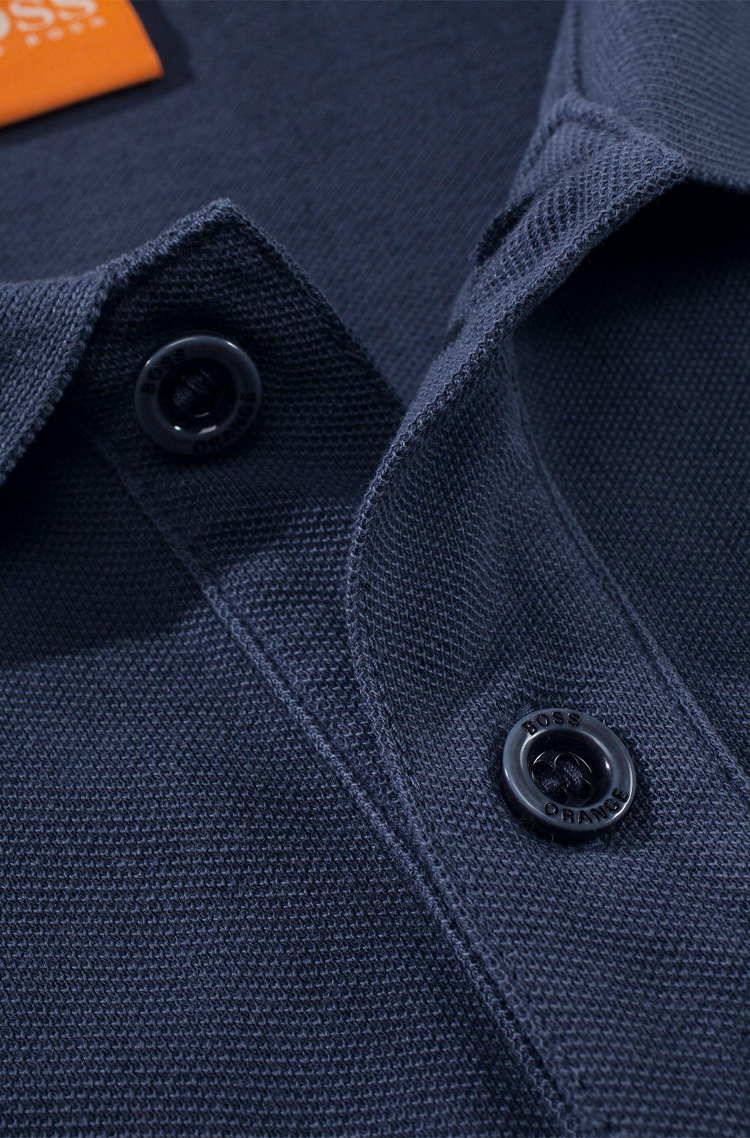 Slim-Fit Langarm-Polo aus Baumwoll-Piqué: ´Phlash`