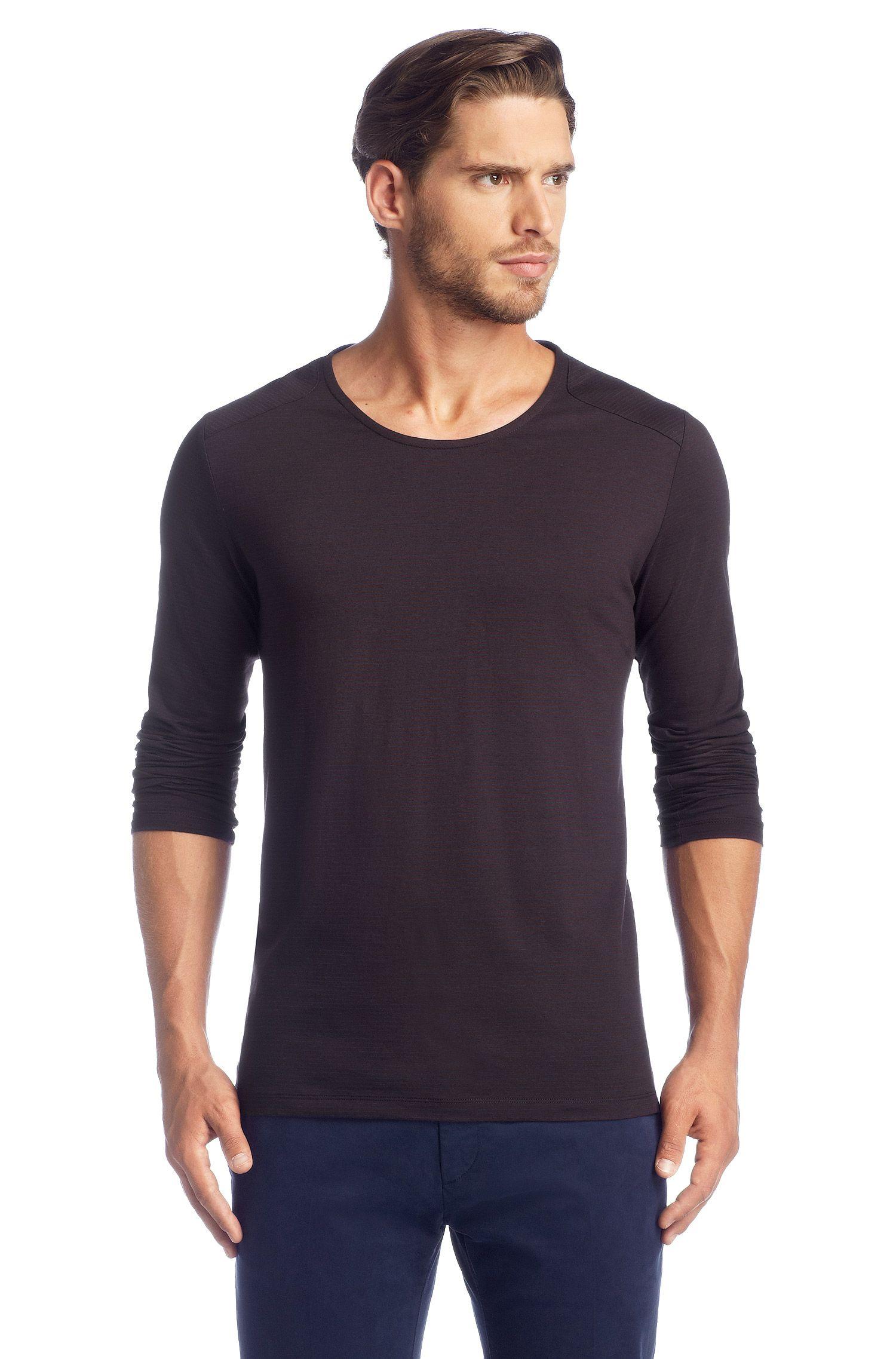 T-shirt manches longues, coton mélangé, Darlone