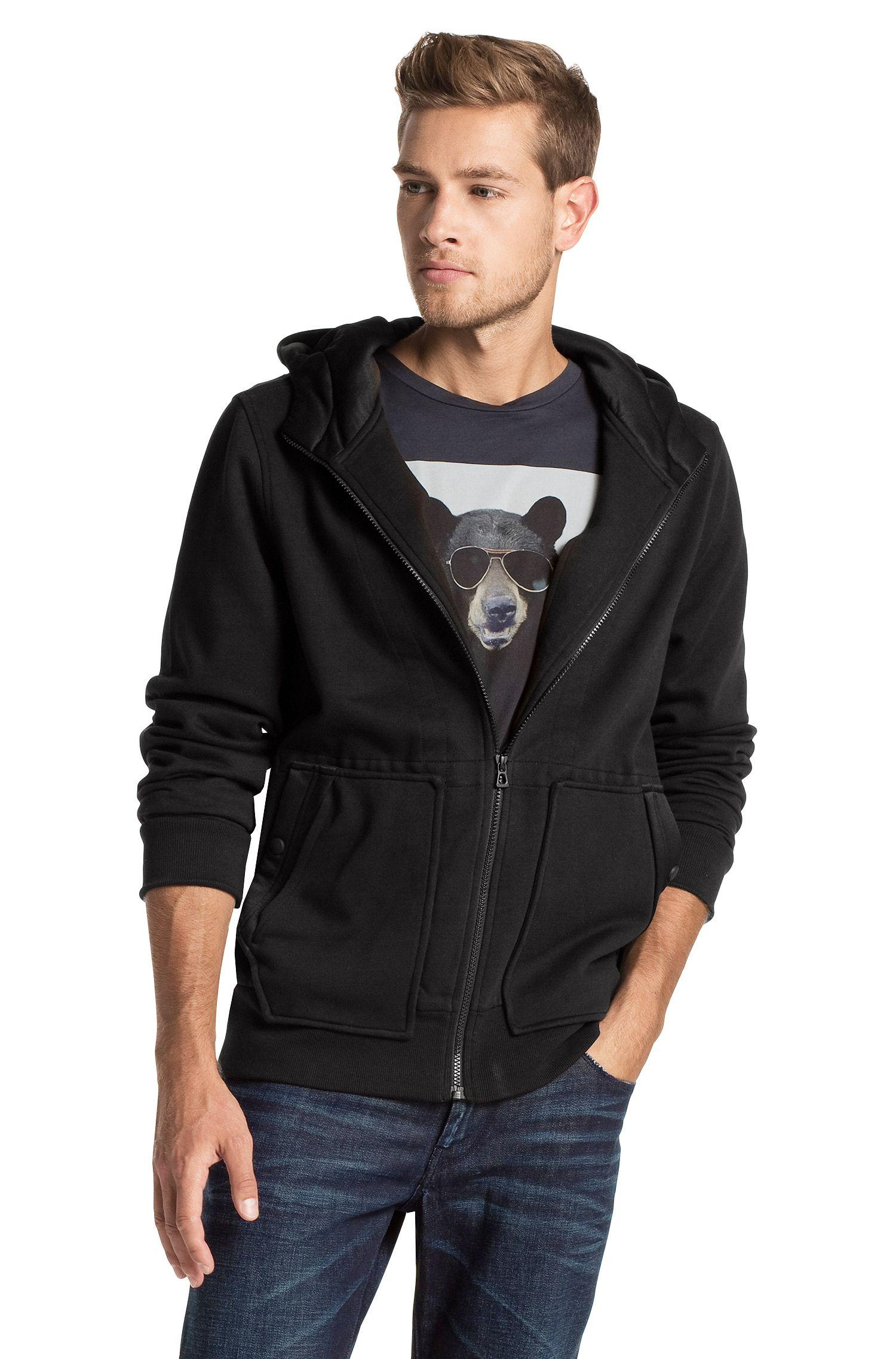 Kapuzen-Sweatshirt-Jacke ´Ztarter` aus Baumwolle