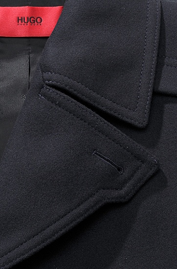 Wollen mantel ´Mador`, van een scheerwolcomposit,