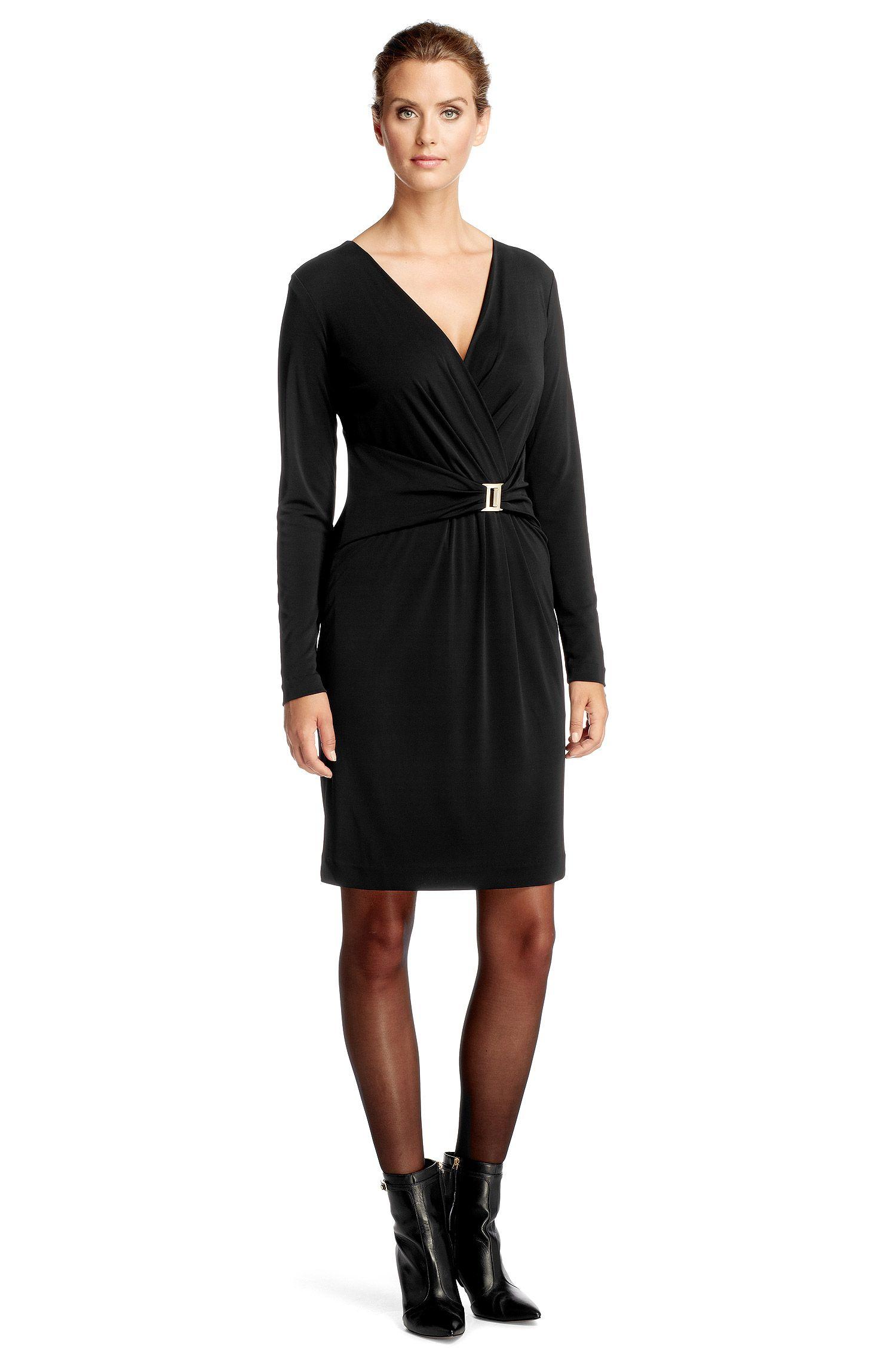 Jerseykleid ´E4873` mit angesetztem Stoffgürtel
