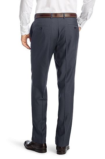Comfort-Fit Business-Hose ´Parkway1` aus Schurwolle, Blau