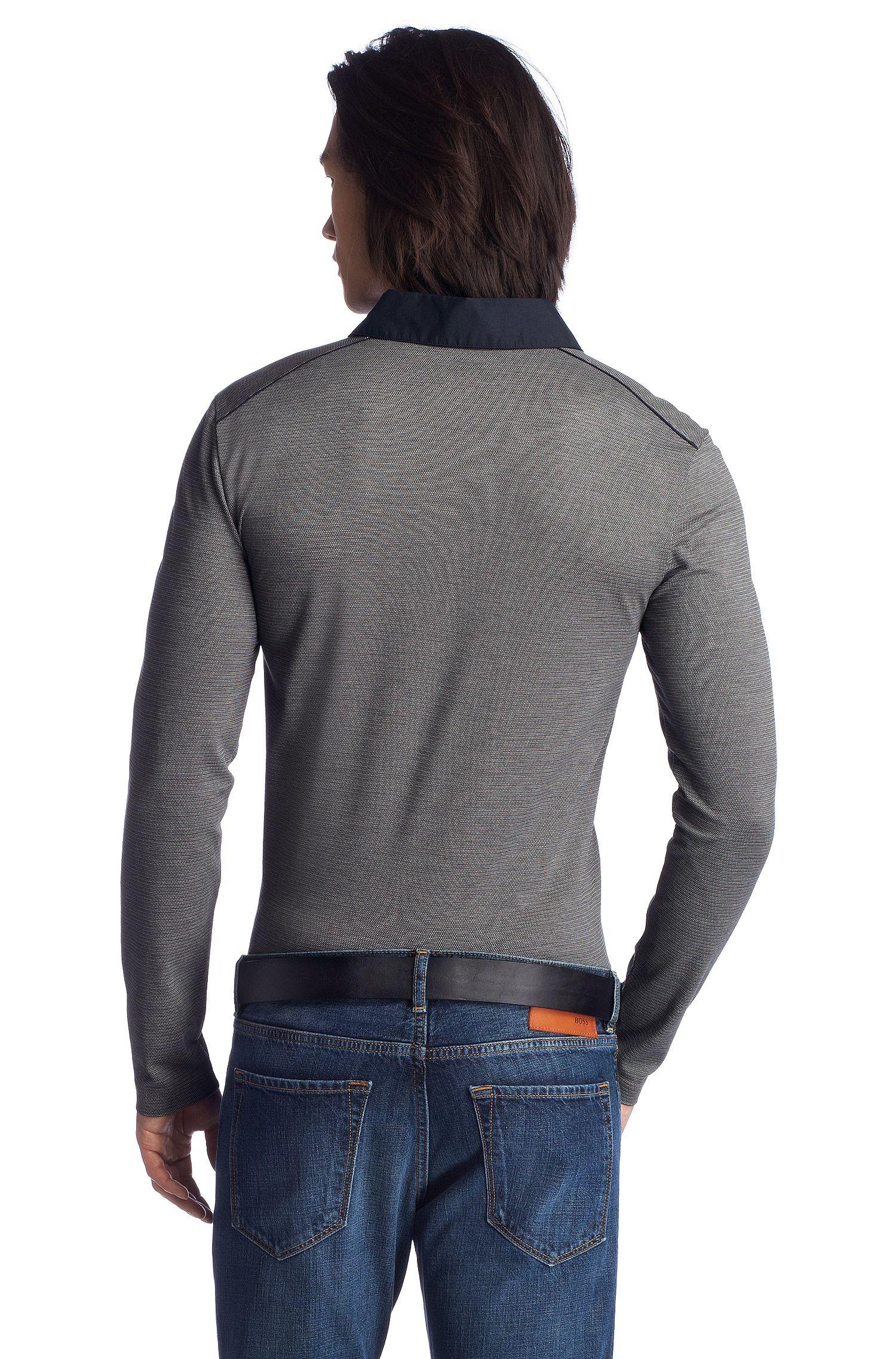 Polo à manches longues coupe Slim Fit «Sedilo 06» en coton