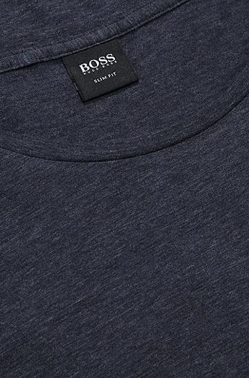 Slim fit long sleeve jersey t-shirt 'Leo 22', Dark Blue