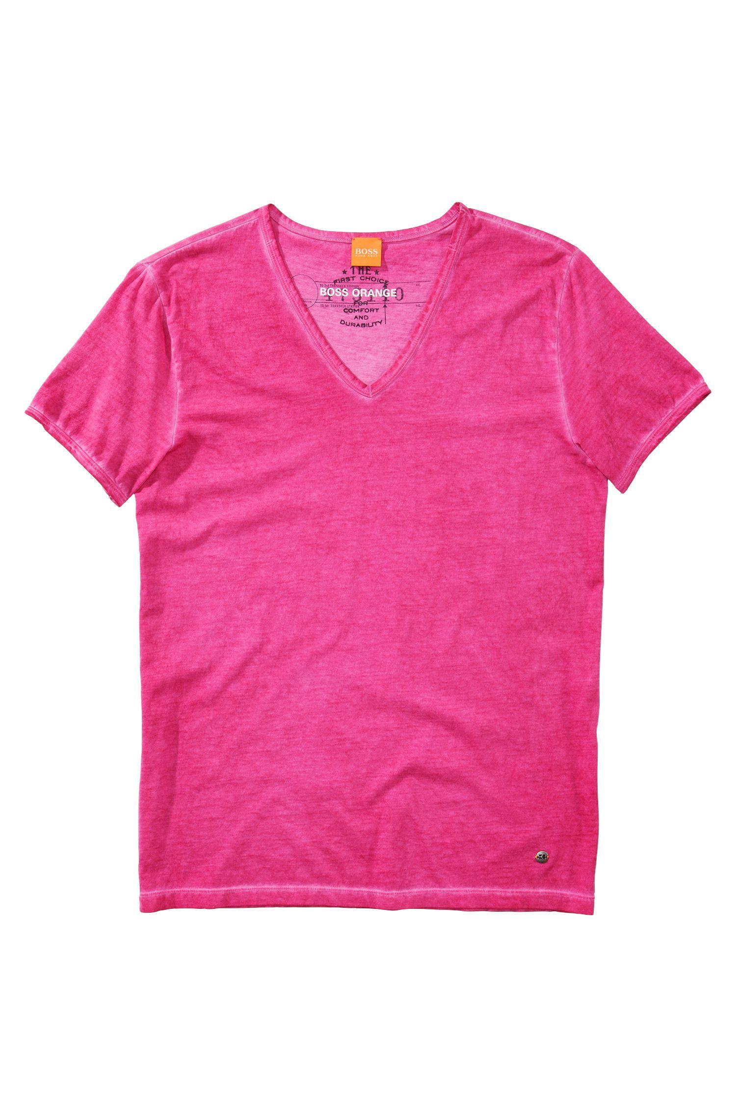 T-Shirt ´Toulouse` mit V-Ausschnitt