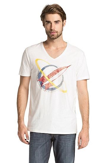 T-Shirt ´Taury` mit Rocket-Print, Natur
