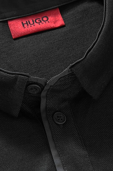 Regular-Fit Polo ´Detour` aus Piqué, Schwarz