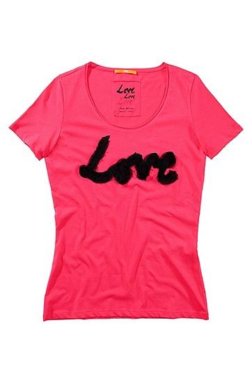 T-Shirt ´Tecca` aus Baumwolle, Pink