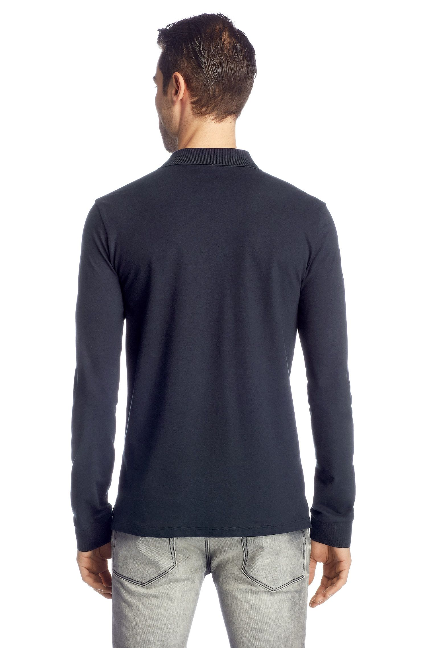 Regular-Fit Longsleeve-Polo ´Nolon`