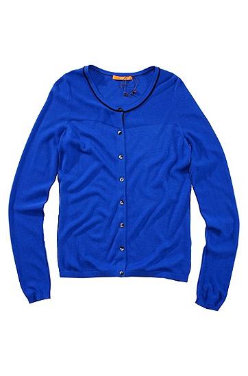 Cardigan ´Wilona` aus Viskose-Gemisch mit Wollanteil von BOSS Orange, Blau