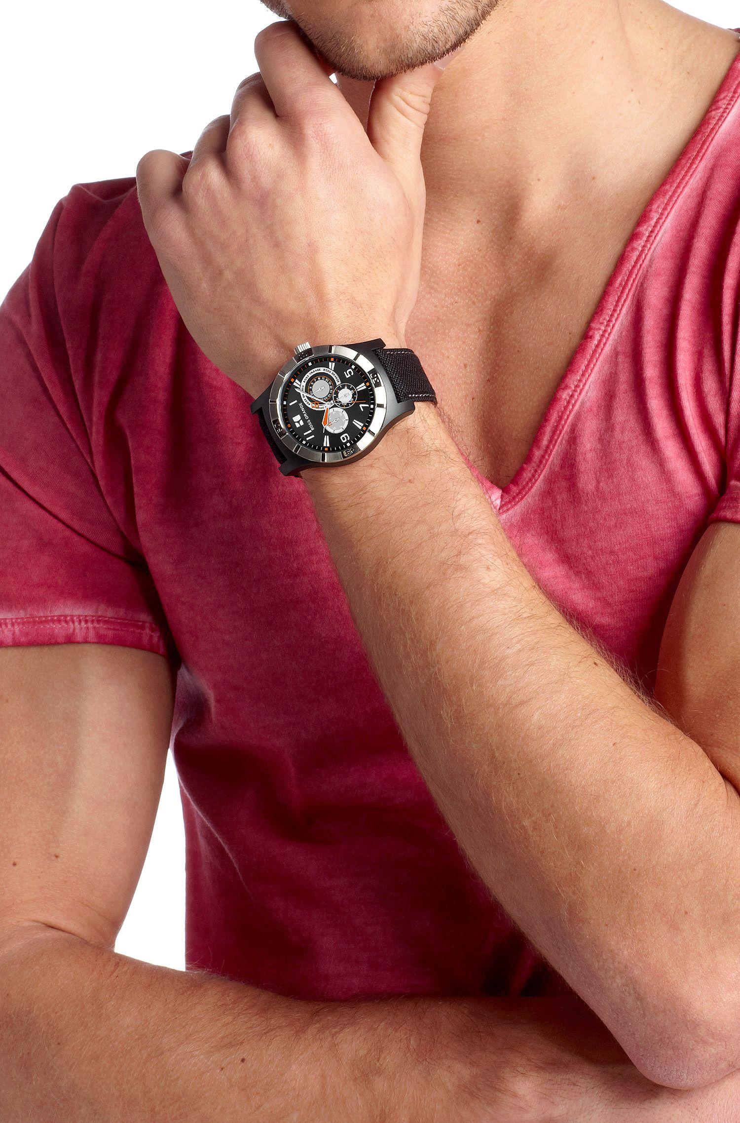 Montre multifonctions à bracelet en nylon, HO225