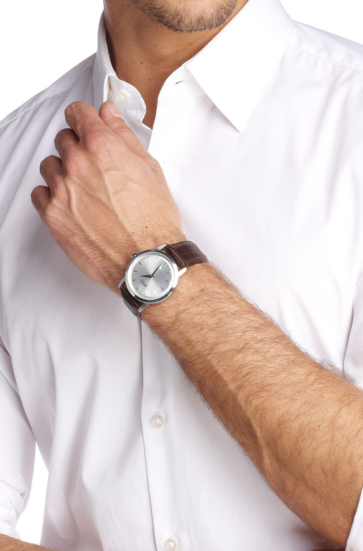 Designer-Uhr ´HB1013` mit Lederarmband