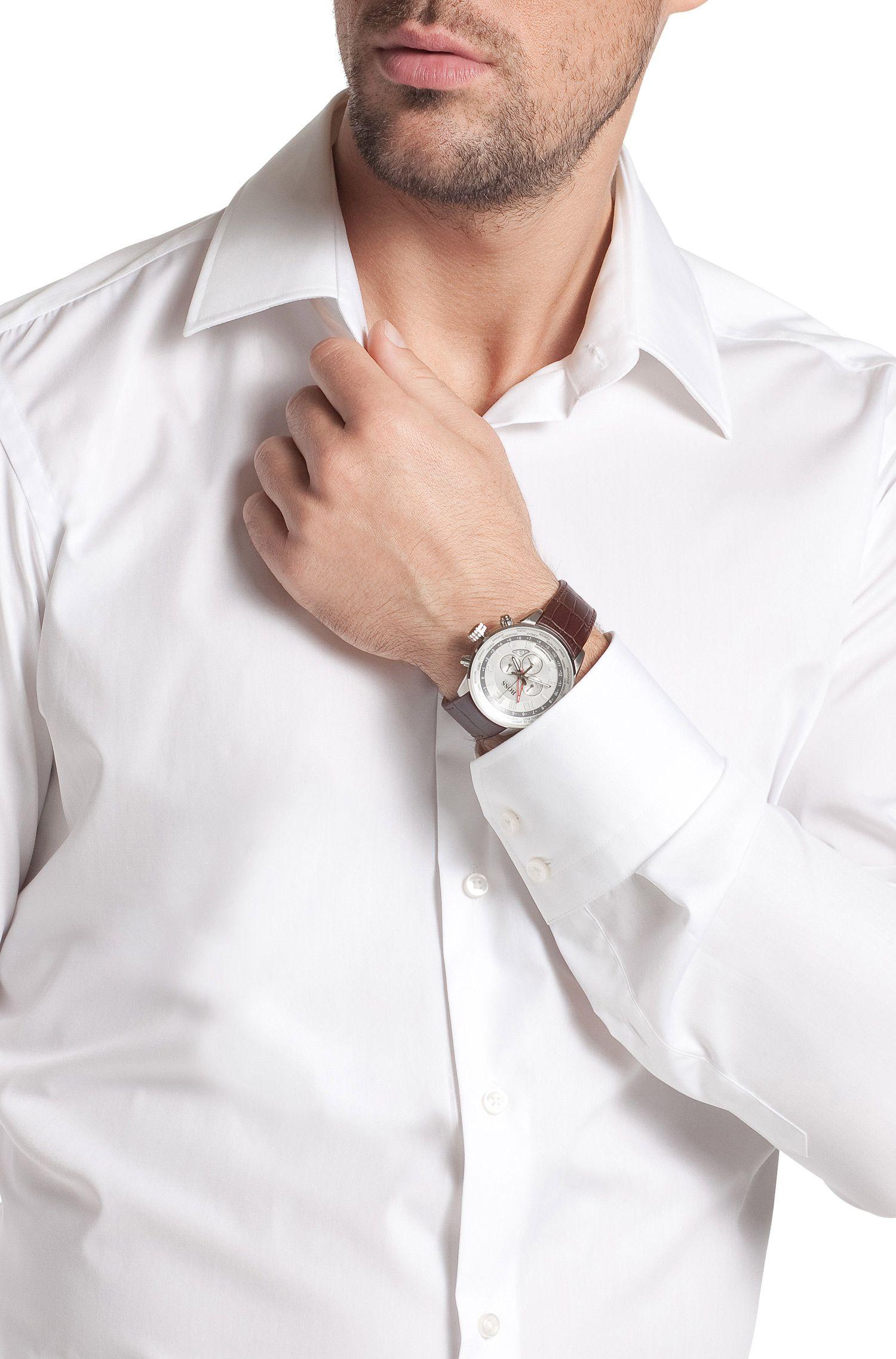 Herenchronograaf 'HB2031' met leren armband