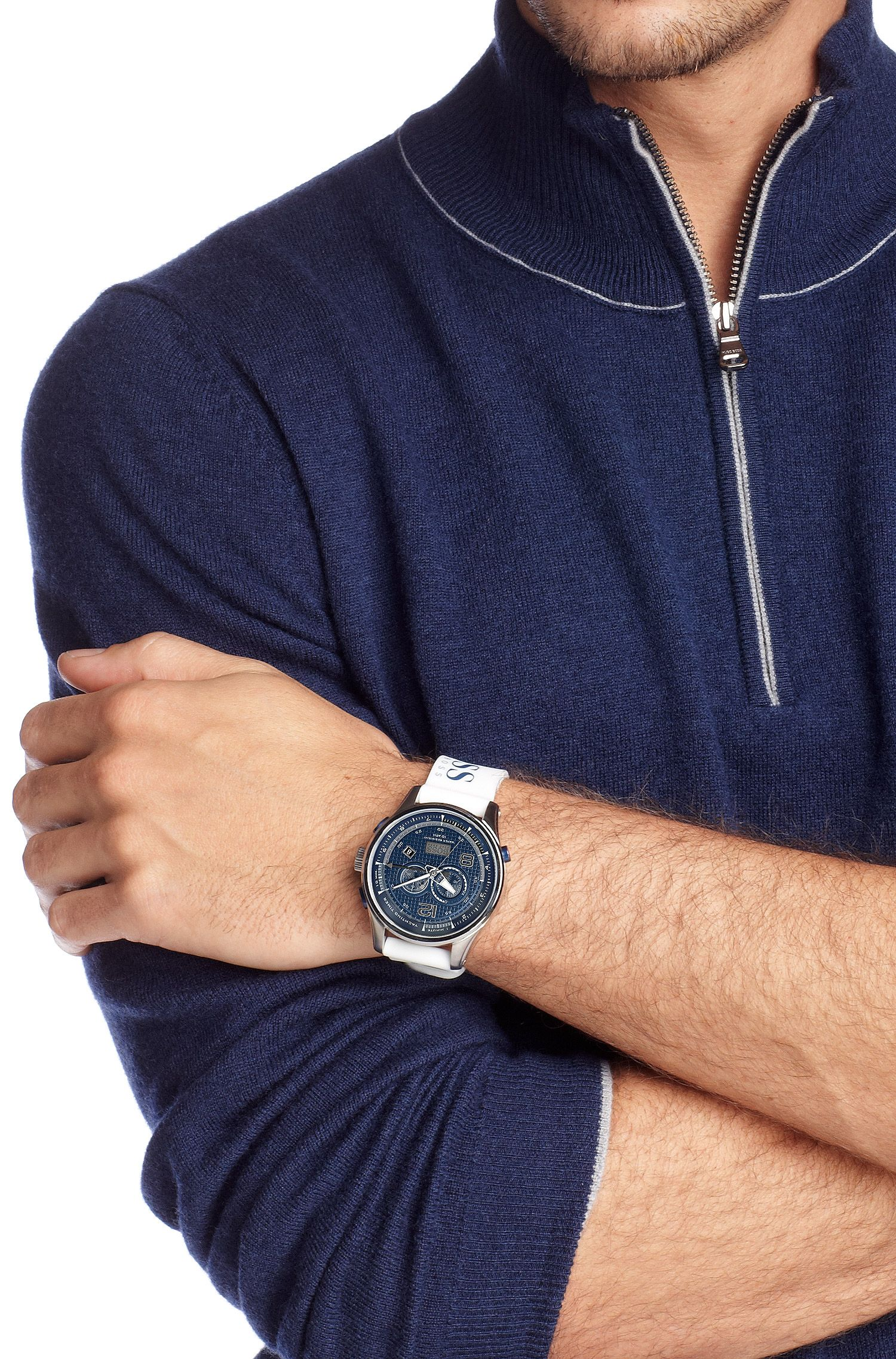 Armbanduhr ´HB 2012` mit Gummiarmband