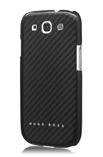 Hard Cover ´Carbon III` für Samsung Galaxy S3, Schwarz